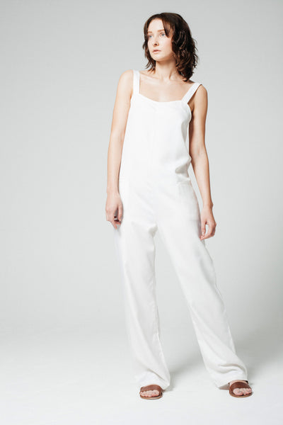 Man Repeller Jumpsuit White