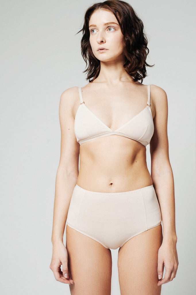 High-Waisted Basic Brief Rose Dust
