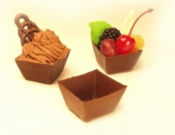 Dark Chocolate Square Cups, Medium - 1½""