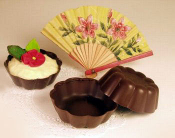 Fluted Dark Chocolate Cups -  2½""