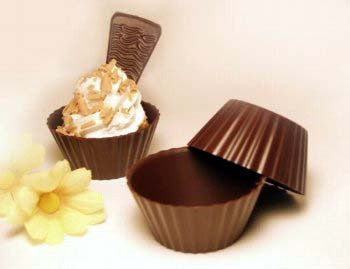 Dark Chocolate Queen Victoria Cups - 2½""