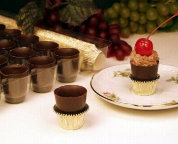Dark Chocolate Liqueur Cups