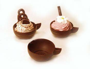 Chocolate Tea Cups - 1¾""