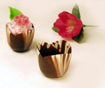 Marbled Chocolate Tulip Cups, Mini - 1½""