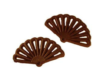 Chocolate Oriental Fan Decors