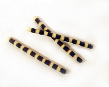 Rolled Chocolate Twigs - Zebra Striped - 4""