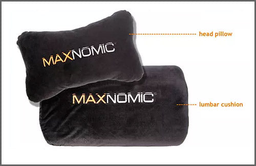 Included headrest and lumbar pillow