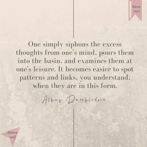 why write a list albus dumbledore quote