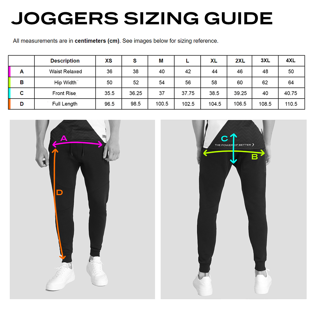 Joggers Size Guide