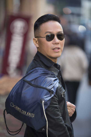 BD Wong with James Cox Knits Backpack
