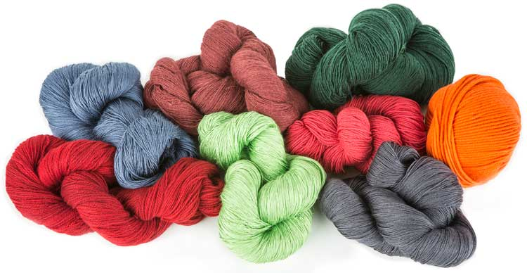 Yarns from James Cox Knits