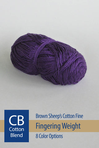 Cotton Fine Yarn from Brown Sheep – 13 color options