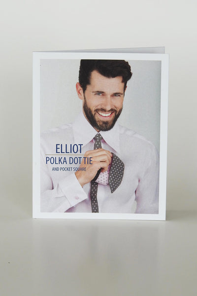 Elliott Double Knit Tie & Pocket Square PATTERN (Printed)