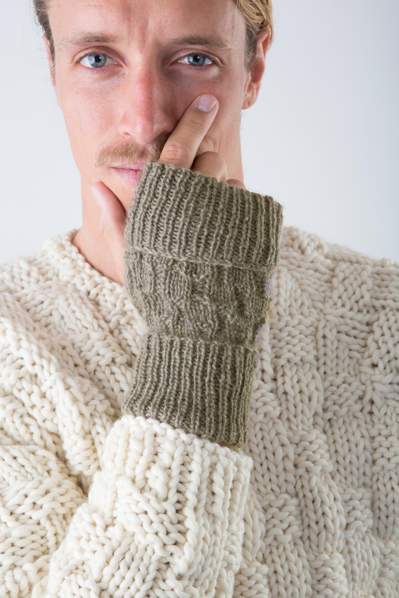 Keith Fingerless Gloves| James Cox Knits - kits for men