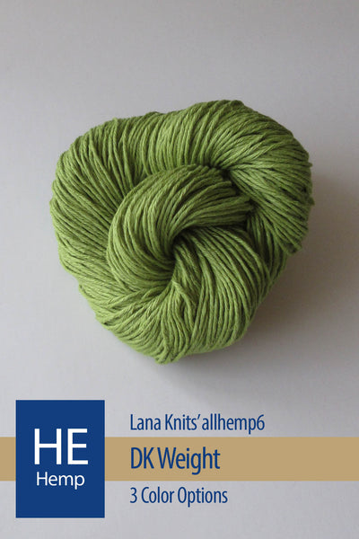allhemp6 Yarn from Lana Knits – 3 color options
