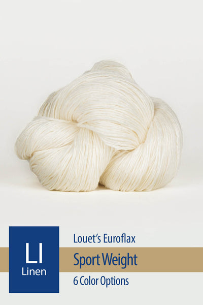 Euroflax Sport Yarn from Louet – 6 color options