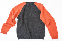 Brian Sporty Crewneck sweater in orange/charcoal – James Cox Knits