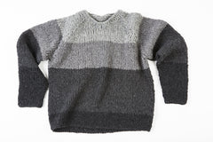 Rodney Wooly Sweater in Grey/Black – James Cox Knits