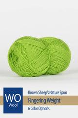 Nature Spun Fingering Yarn from Brown Sheep – 6 color options