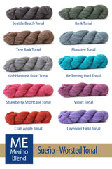 Sueño Worsted Tonal from HiKoo – 15 color options
