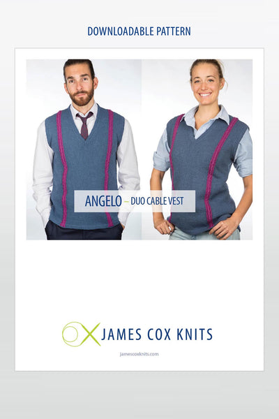 Angelo Duo Cable Vest PATTERN (Downloadable)