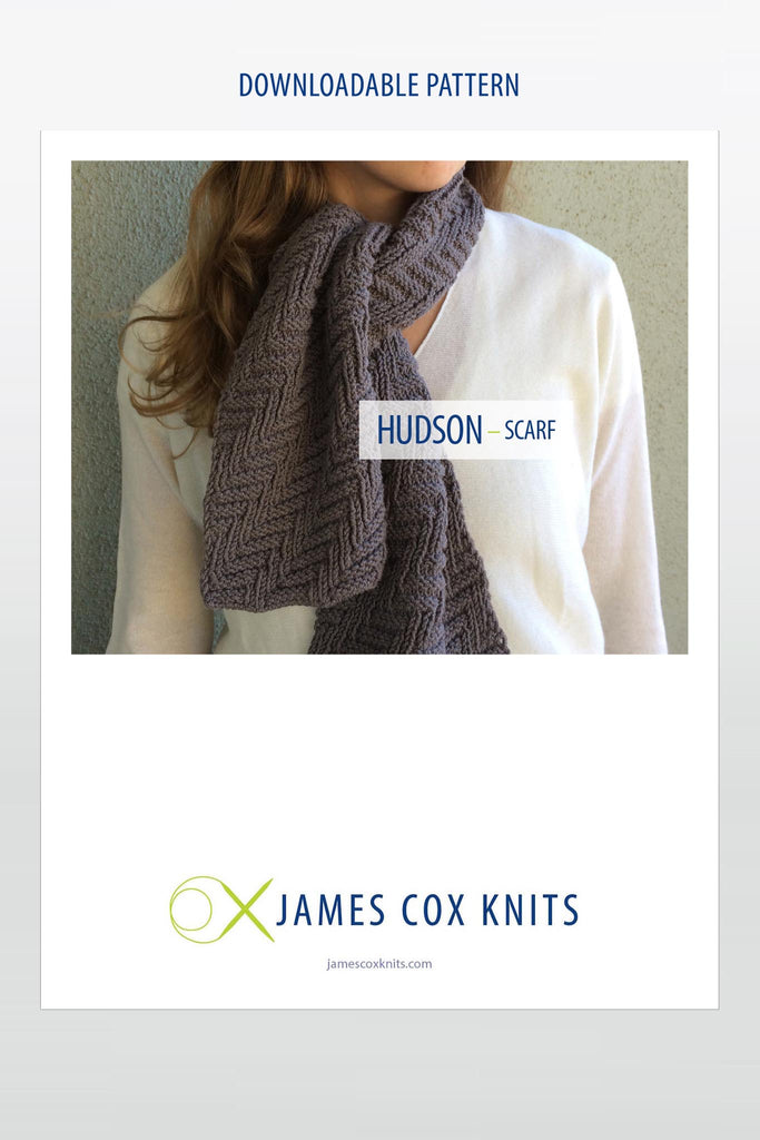 Hudson Scarf PATTERN (Downloadable)