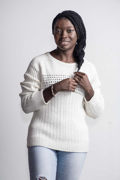 Doug Eyelet Sweater
