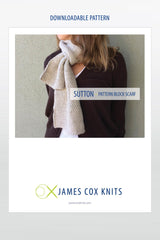 Sutton Pattern Block Scarf PATTERN (Downloadable)