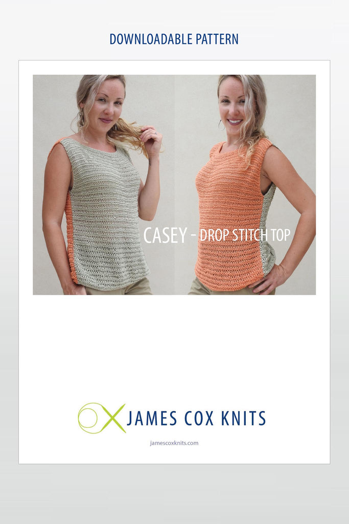 Casey Drop-Stitch Top – Buy the Yarn Get the Pattern Free