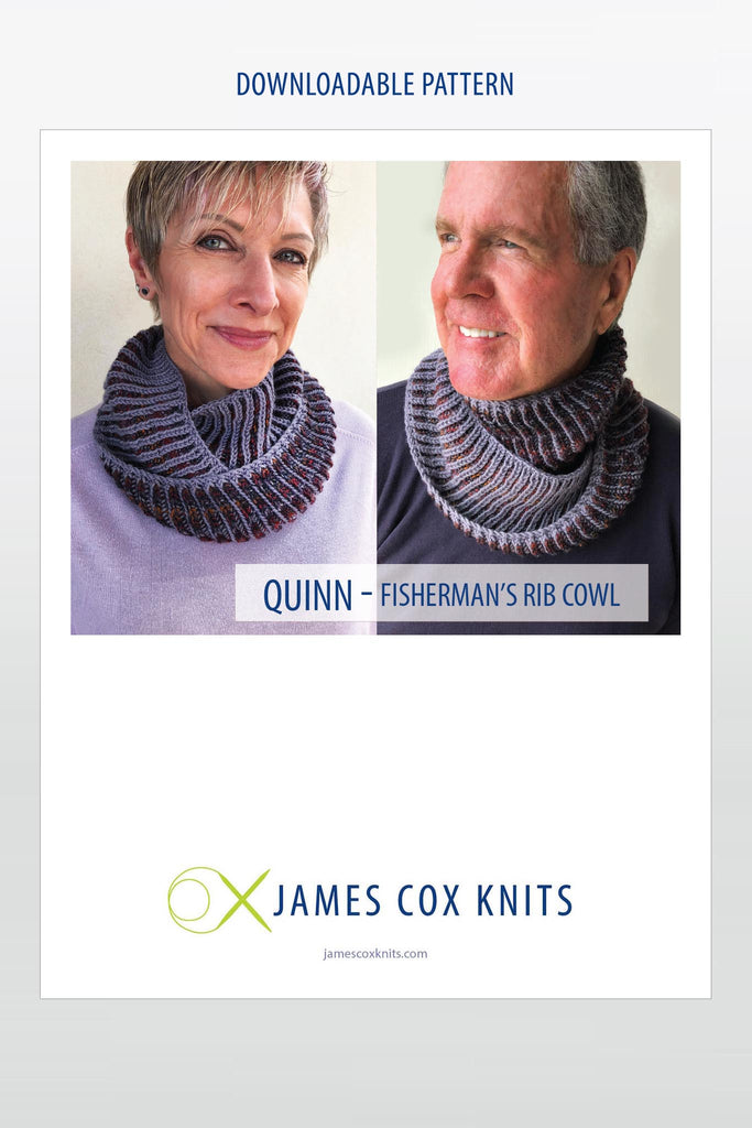 Quinn Fisherman's Rib Cowl PATTERN (Downloadable)