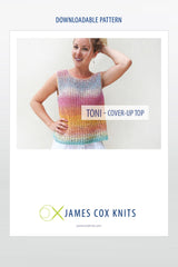 Toni Cover-Up Top – Buy Zauberball Crazy Cotton Yarn Get the Pattern Free