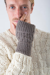 Keith Fingerless Gloves PATTERN (Downloadable)