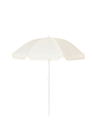 Vintage Fringed Beach Umbrella