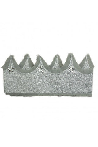 Glitter Crown - Grey/Silver