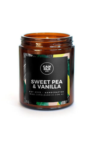 Sweetpea and Vanilla Amber Candle