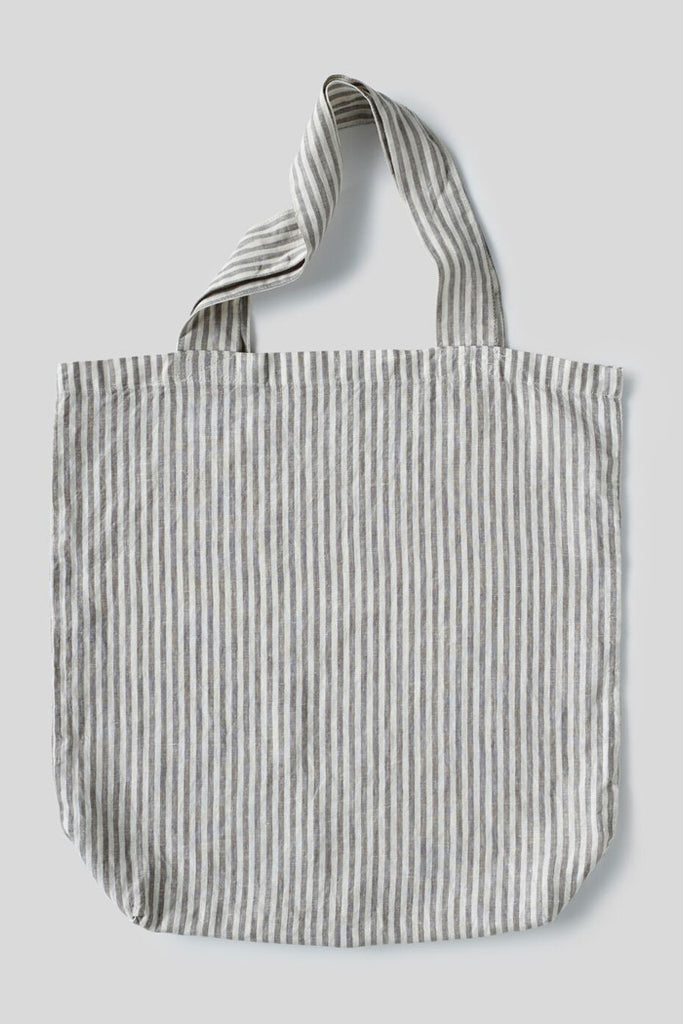 100% Linen Market Bag (Stripe)
