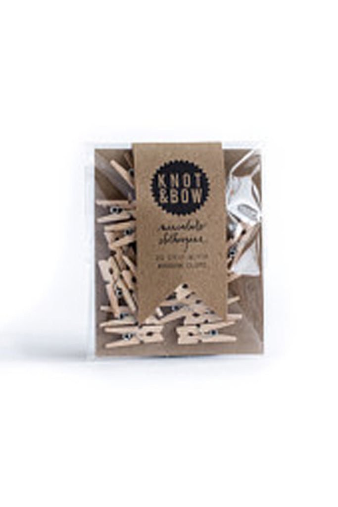 Miniature Wooden Pegs