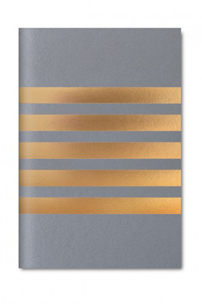Pocket Stripe Notebook (Grey)