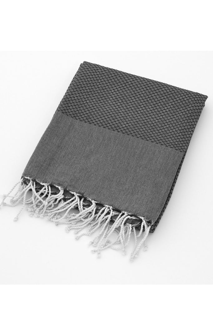 Organic Cotton Tunisian Towel (Black)