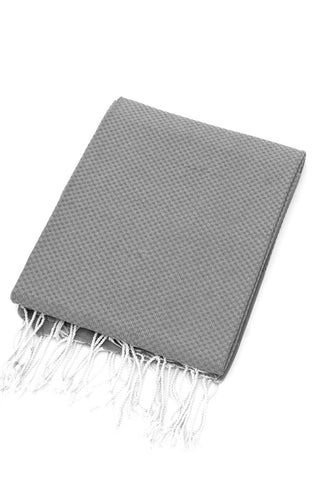 Organic Cotton Tunisian Towel (Grey)