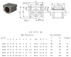 SCS8LUU Linear Motion Ball Bearing Slide Bushing