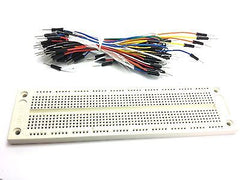 830 Tie Points Solderless PCB Breadboard + 65Pcs Jumper cable wires Arduino