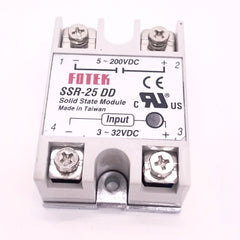 Solid State Relay  ( SSR ) DC to AC, DC to DC 25A Rated 12v 24v, 110v SSR-25 DD DA