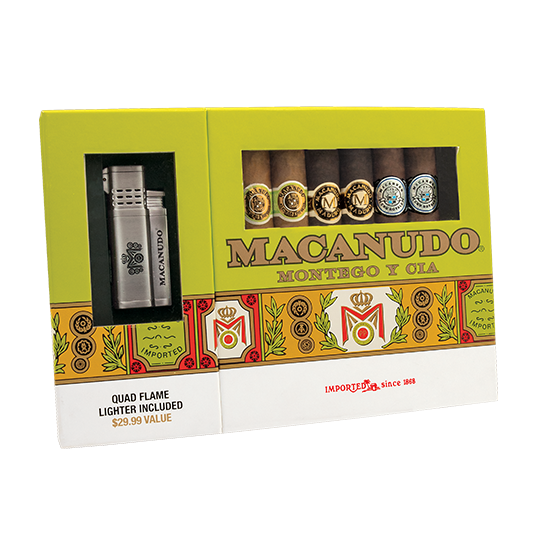 Macanudo 6 Pack Collection w/ Lighter