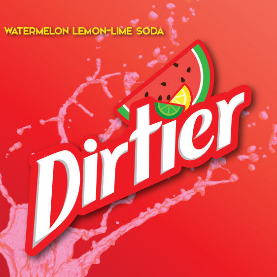 Dirtier Watermelon is a delicious watermelon flavored lemon-lime soda.