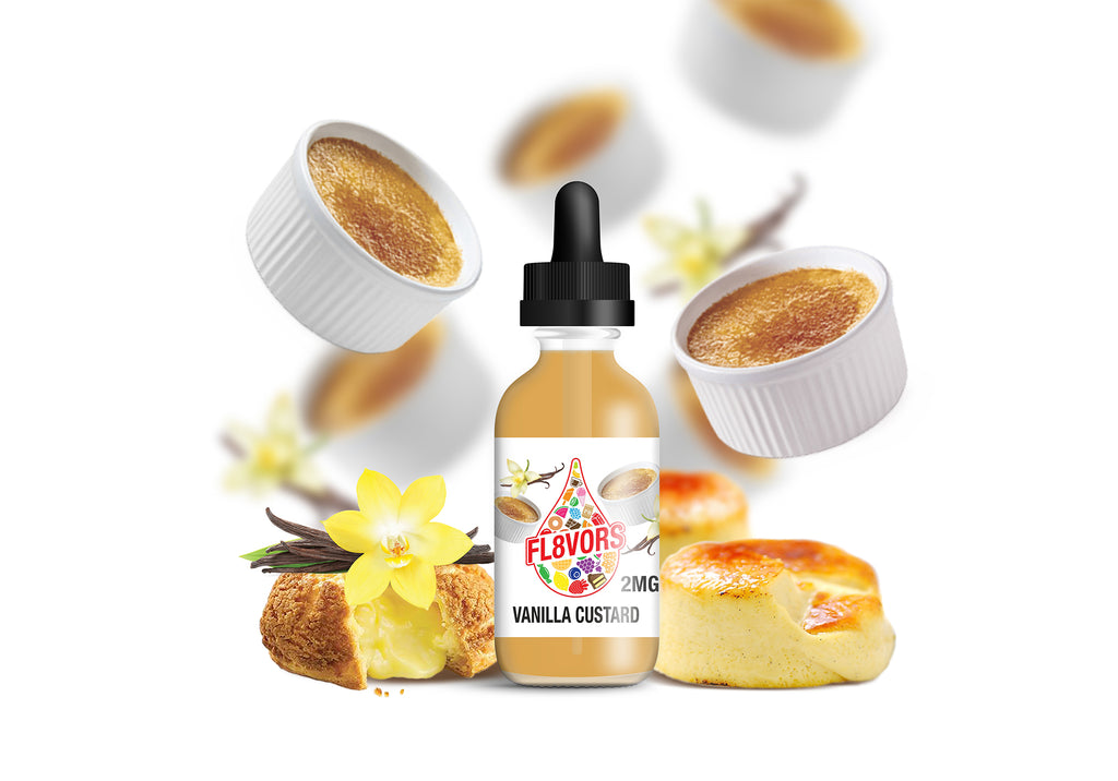 FL8VORS 60ml Vape Juice - Vanilla Custard