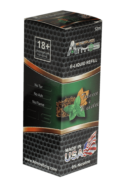 Atmos Tobacco and Menthol Vape Juice - Lighter USA