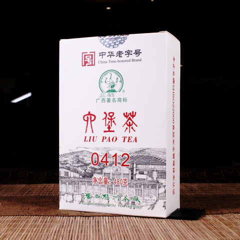 "Three Cranes ""0412"" Recipe Liu Bao Tea Brick"