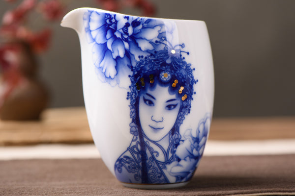 "Jingdezhen Porcelain ""Chinese Opera"" Cha Hai * 300ml - Yunnan Sourcing Tea Shop"
