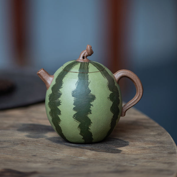 "Jiang Po Ni Clay ""Watermelon"" Yixing Teapot by Xu Qing Ya"